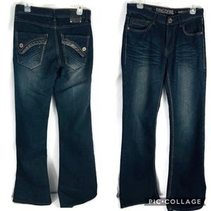 Ring Of Fire Boot Cut High St Dark Jeans Size 30